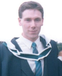 BA graduation at University College Dublin, 1988